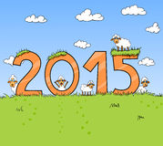 2015 chinese year of sheep Stock Images
