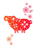 Chinese year of Sheep Lamb stock illustration