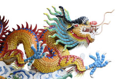Chinese yellow dragon Stock Photos