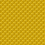 Chinese yellow gold seamless pattern dragon fish scales simple seamless pattern Nature background with japanese wave circle patter Royalty Free Stock Image