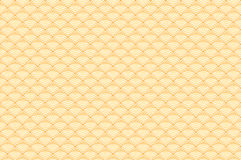 Chinese yellow gold seamless pattern dragon fish scales simple seamless pattern Nature background with japanese wave circle patter. N vector art korean Stock Images