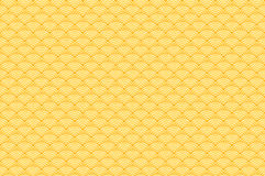 Chinese yellow gold seamless pattern dragon fish scales simple seamless pattern Nature background with japanese wave circle patter. N vector art korean Stock Photography