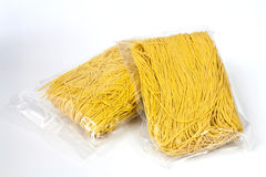 Packaged yellow noodles Royalty Free Stock Photography