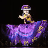 Chinese Yi ethnic dancer Royalty Free Stock Photography