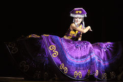 Chinese Yi ethnic dancer Stock Photo