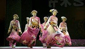 Chinese Yi ethnic dancers Royalty Free Stock Photos