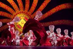 Chinese Yi national dancers Stock Image