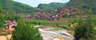 Chinese Yi village in Yunnan Province Royalty Free Stock Images
