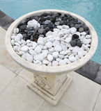 Chinese yin and yang symbol in decorative stones Stock Images