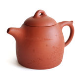Chinese Yixing clay tea pot. Isolated Royalty Free Stock Photography