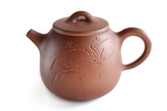 Chinese Yixing clay tea pot. Isolated Royalty Free Stock Photo