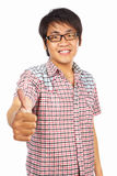 Chinese young adult with thumb up Stock Images