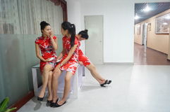 Chinese young girls Stock Photography