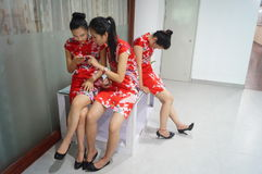 Chinese young girls Stock Photo