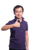 Chinese Young Man. Chinese young male smile with thumb up Stock Images