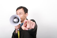 Chinese young man. Chinese young business man isolated on white background Stock Photography