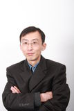 Chinese young man. Chinese young business man isolated on white background Stock Photo