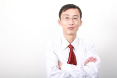 Chinese young man. Chinese young business man isolated on white background Royalty Free Stock Image