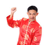 Chinese young man with tradition clothing Royalty Free Stock Photography