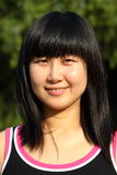 Chinese young women's portrait. In summer times Royalty Free Stock Image