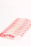 Chinese Yuan of 100 with blank for text Stock Images