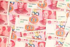 Chinese yuan. Chinese currency yuan banknotes background stock photography