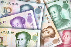 Chinese Yuan Background Stock Photography
