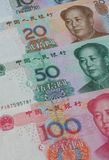 Chinese Yuan background Stock Photos