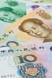 Chinese Yuan bank notes (renminbi), for money concepts Stock Image