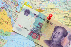 Chinese Yuan banknote Stock Photos