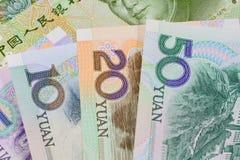 Chinese-Yuan-Banknoten (Renminbi) für Geld und Geschäft conce Stockfoto
