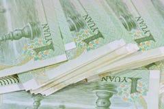 Chinese-Yuan-Banknoten (Renminbi) für Geld und Geschäft conce Lizenzfreies Stockbild