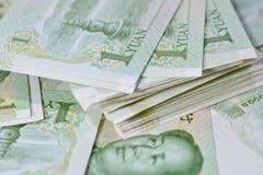 Chinese-Yuan-Banknoten (Renminbi) für Geld und Geschäft conce Lizenzfreie Stockfotografie