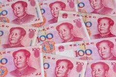 Chinese yuan banknotes Stock Image