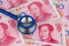 Chinese yuan banknotes Stock Images