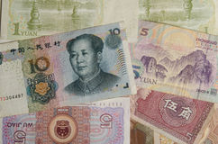 Chinese Yuan banknotes Stock Photos