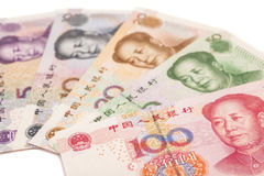 Chinese yuan banknotes Royalty Free Stock Photography