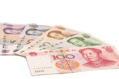 Chinese yuan banknotes Royalty Free Stock Images
