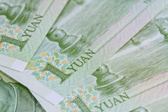 Chinese Yuan banknotes (renminbi)  for money and business  conce Royalty Free Stock Photography