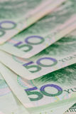 Chinese Yuan banknotes (renminbi)  for money and business  conce Stock Photo