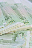 Chinese Yuan banknotes (renminbi)  for money and business  conce Stock Photos