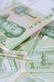 Chinese Yuan banknotes (renminbi)  for money and business  conce Stock Images