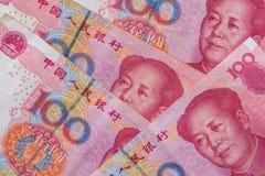 100 Chinese Yuan. Close up Royalty Free Stock Images
