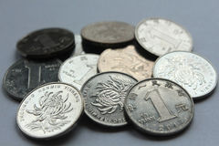 Chinese Yuan coins Stock Photography