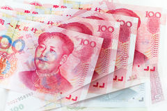 Chinese yuan currency Stock Images