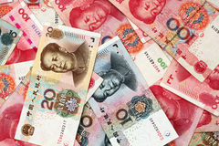 Chinese Yuan Currency Close Up Stockfoto
