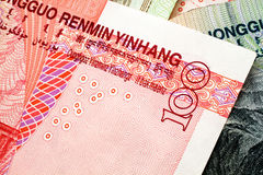 Chinese Yuan Currency Close Up Stockfotos