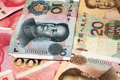 Chinese Yuan Currency Close Up Stockbilder