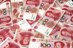 Chinese Yuan Currency Close Up Stockfotografie