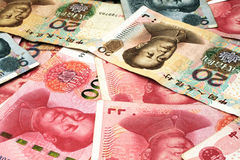 Chinese Yuan Currency Close Up Stockbild